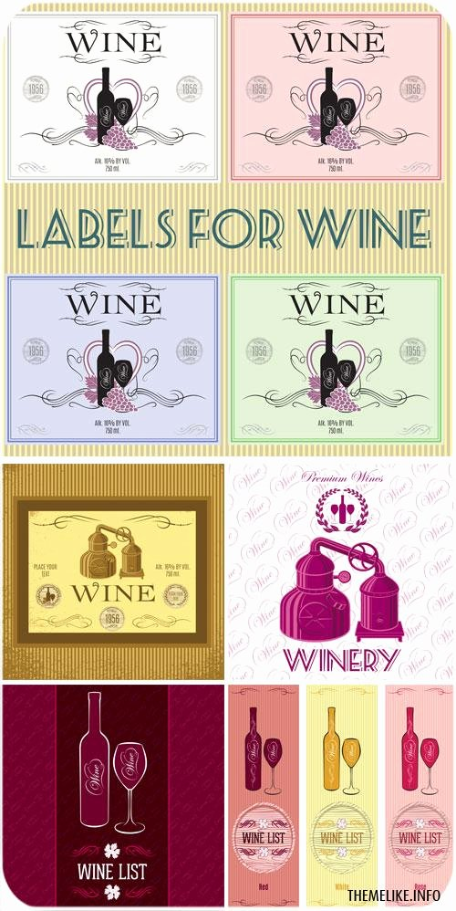 Wine Label Template Photoshop New Wine Labels Vintage Style Vector All Design Template