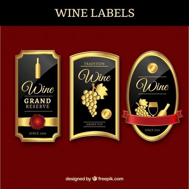 Wine Label Template Photoshop Unique Três Etiquetas Do Vinho De Luxo