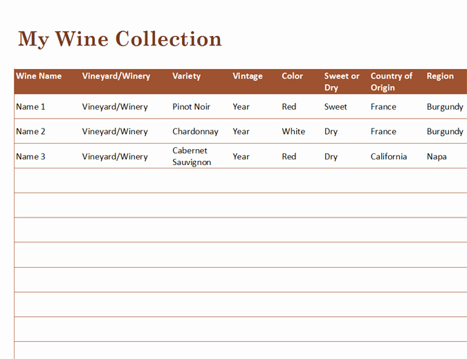 Wine Tasting Journal Template Unique Food and Nutrition Fice