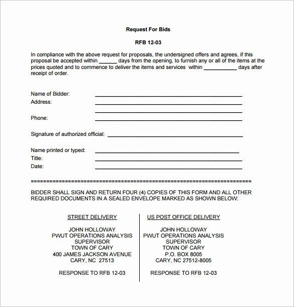Winning Rfp Response Examples Pdf Best Of Bid Proposal Template 16 Free Sample Example format