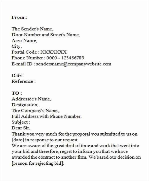 Winning Rfp Response Examples Pdf Best Of Sample Letter Of Award to