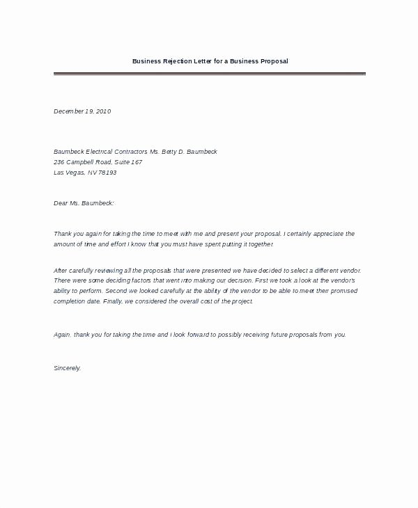 Winning Rfp Response Examples Pdf Elegant Vendor Proposal Letter Sample