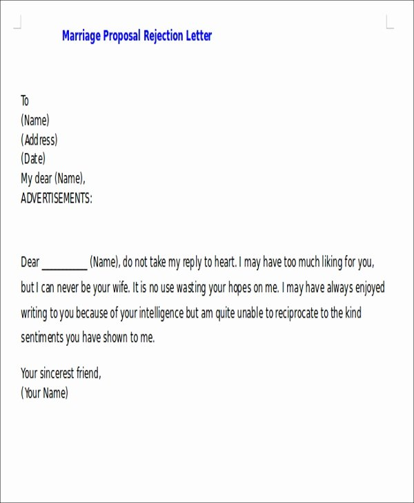 Winning Rfp Response Examples Pdf New Proposal Rejection Letter 5 Free Sample Example format