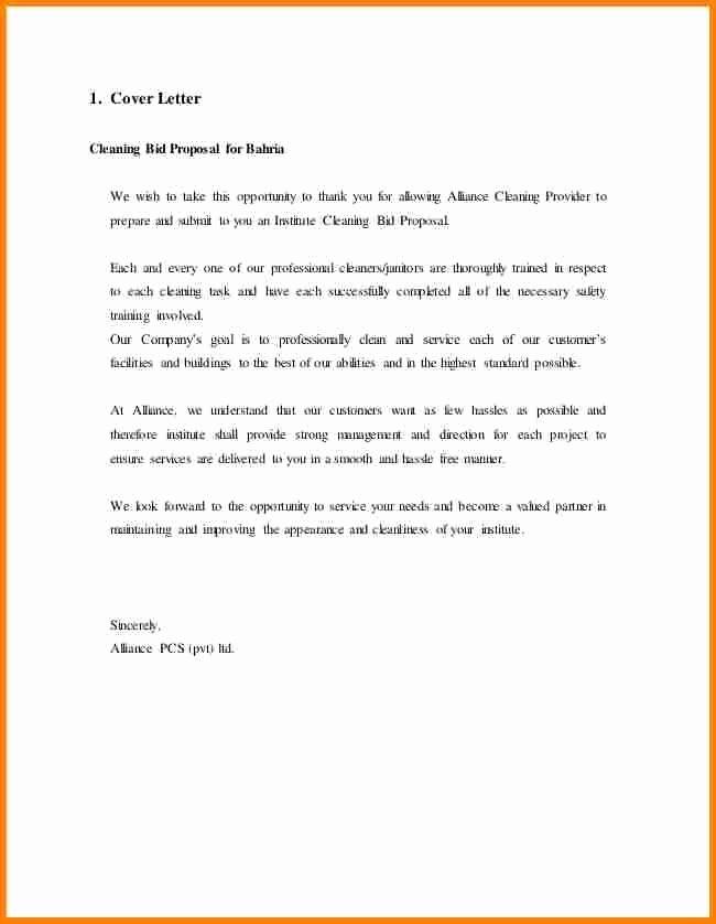 Winning Rfp Response Examples Pdf Unique Sample Letter Interest for Bidding
