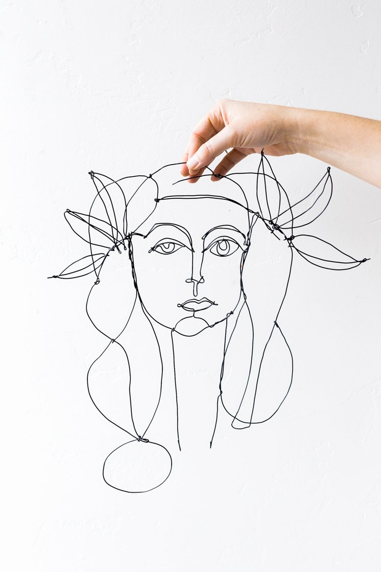 Wire Instruction Template Fresh Picasso Inspired Diy Wire Portrait the House that Lars Built