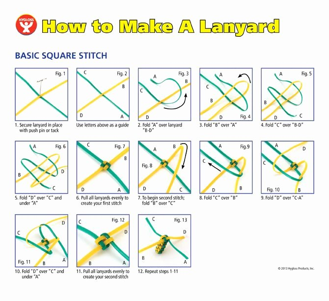Wire Instruction Template Lovely How to Make A Lanyard It S Super Easy with Our Step by
