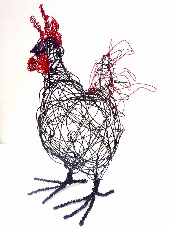 Wire Instruction Template Lovely Wire Cockerel Sculpture Pdf Instructions and Template by