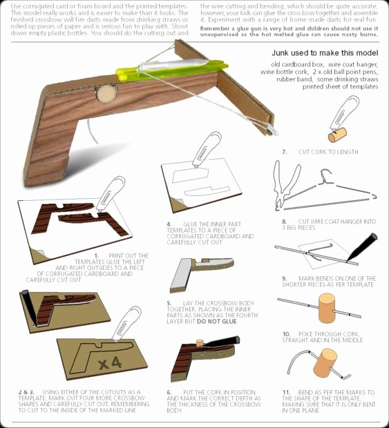 Wire Instructions Template Best Of How to Make A Cool Cardboard Crossbow