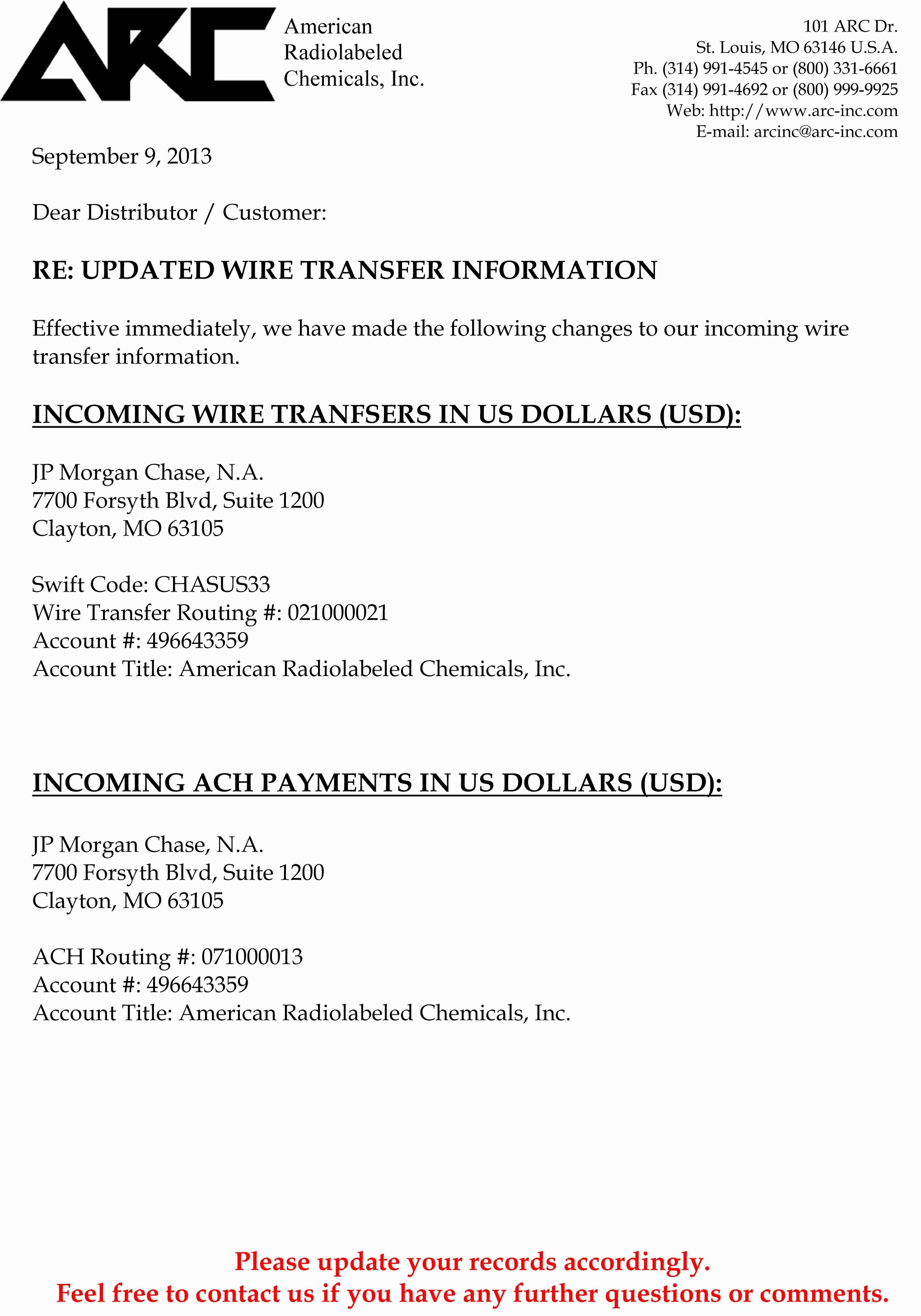 Wire Transfer Instructions Template New Click Here to View Wire Transfer and Ach Payment