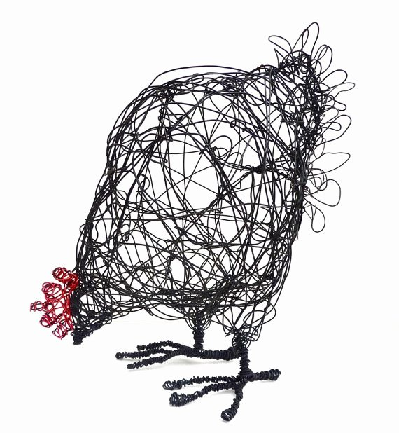 Wiring Instructions Template Beautiful Wire Hen Sculpture Pdf Instructions & Template