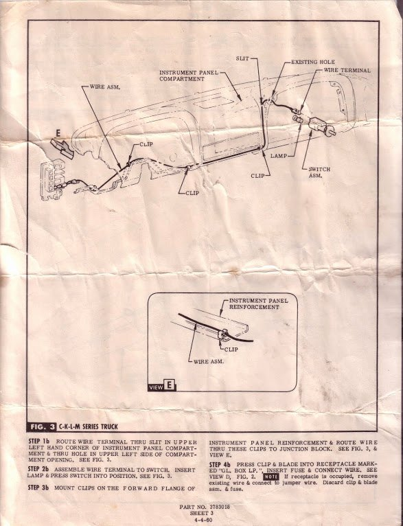 Wiring Instructions Template Best Of 1960 66 Accessories Installation Instructions & Templates