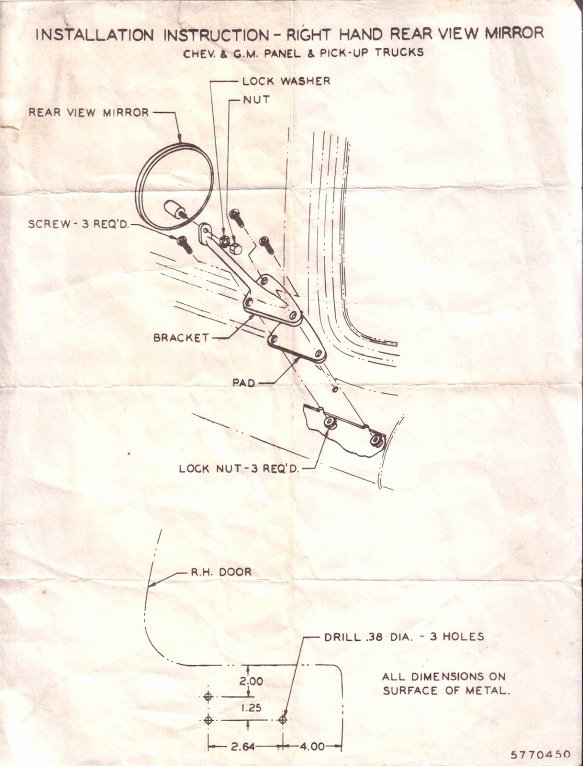 Wiring Instructions Template Inspirational 1960 66 Accessories Installation Instructions & Templates