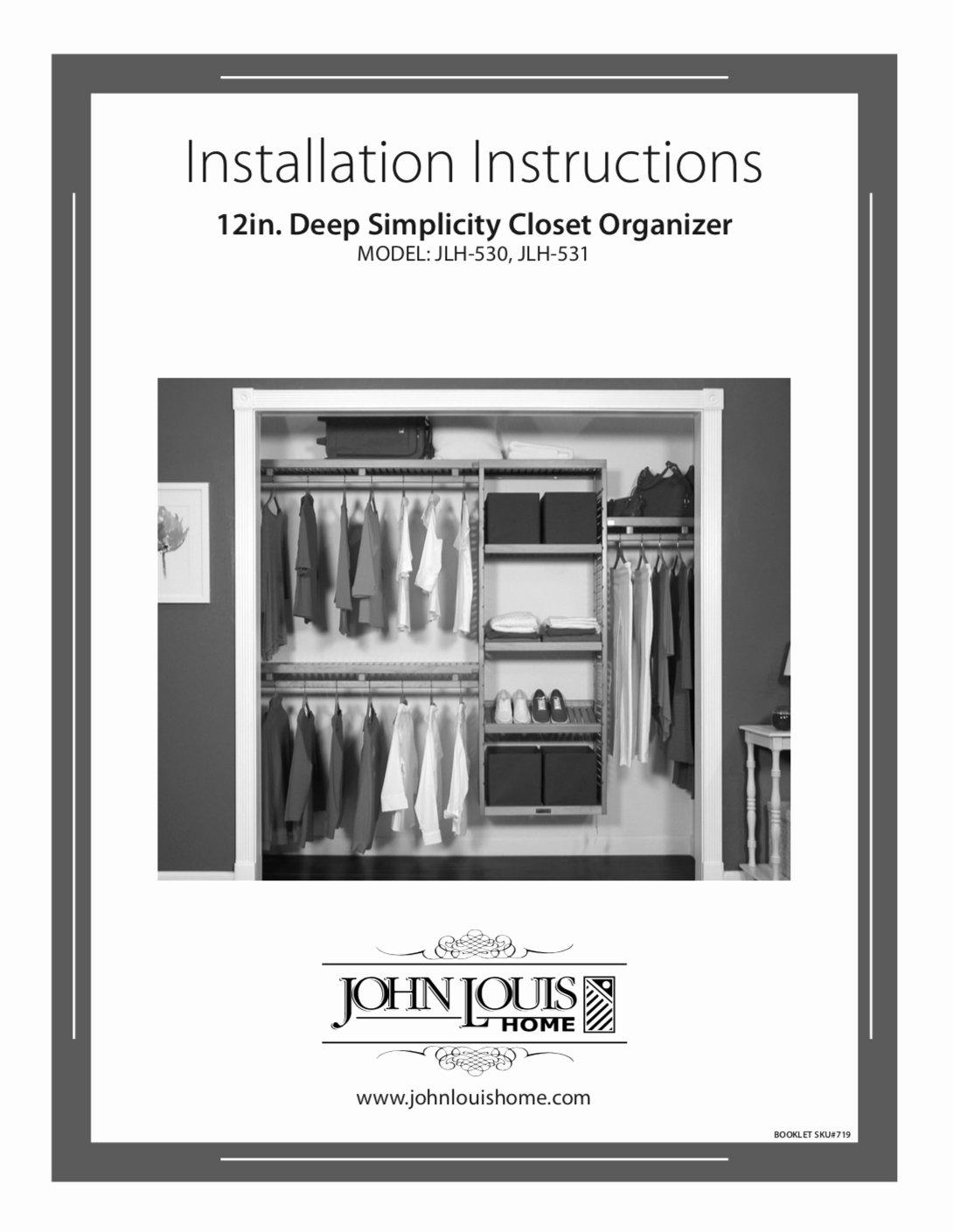 Wiring Instructions Template Unique Simplicity Wood Closet organizer L John Louis Home