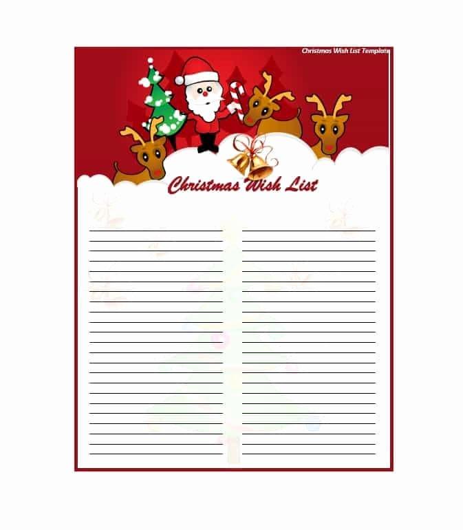Wish List Template Best Of 43 Printable Christmas Wish List Templates & Ideas