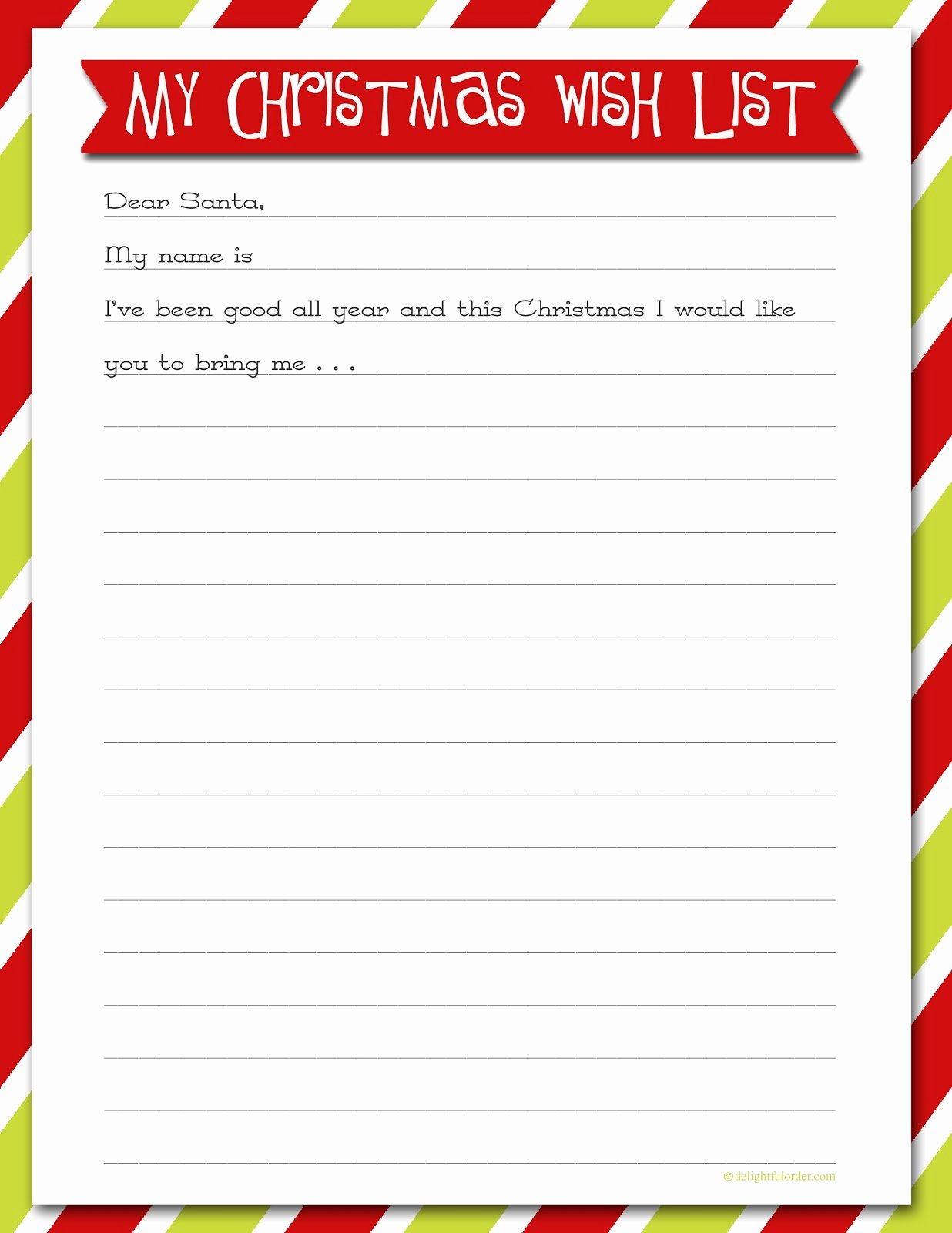 Wish List Template Unique Printable Christmas Wish Lists are We there yet