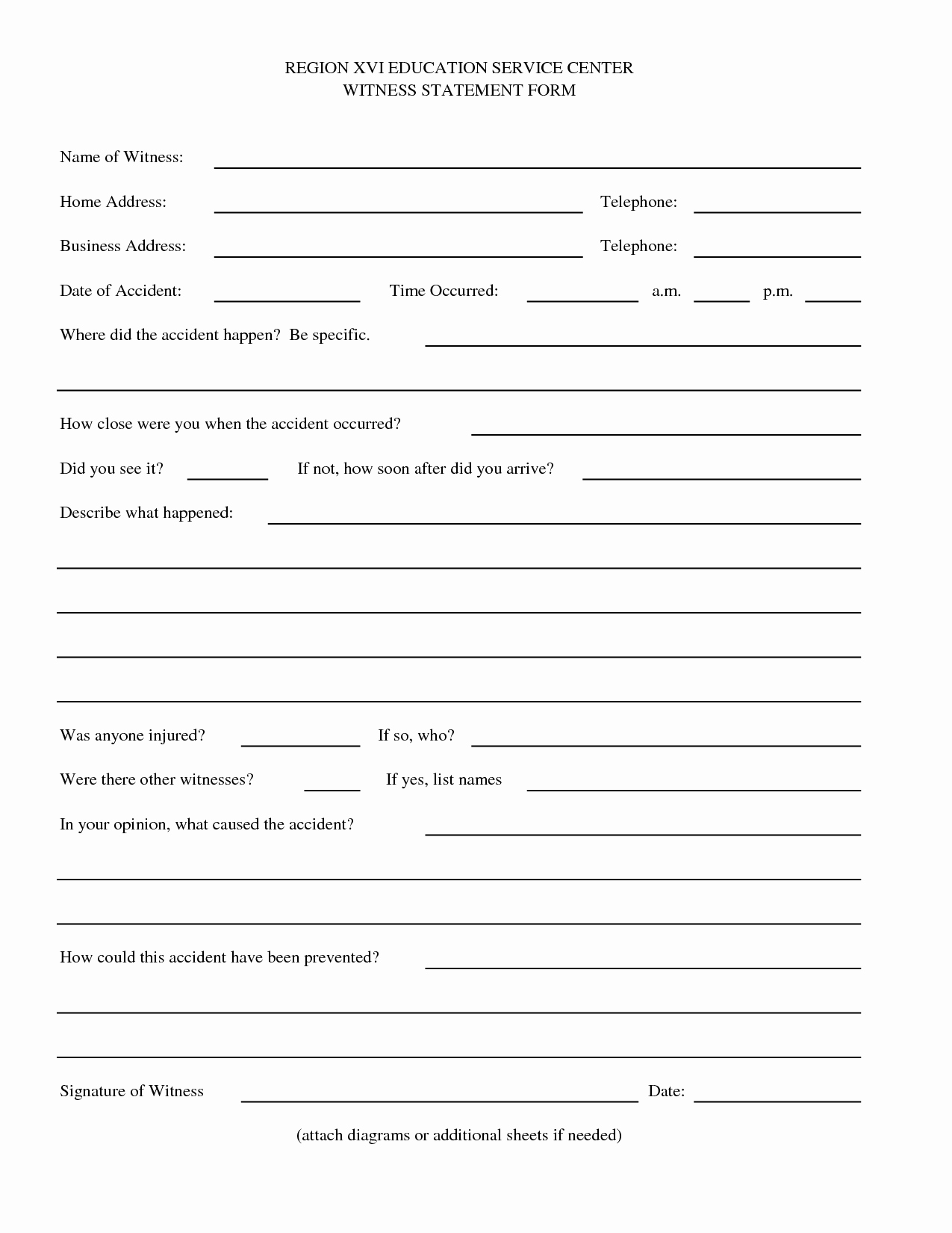 Witness Statement form Template Best Of Best S Of Witness Signature Statement Accident