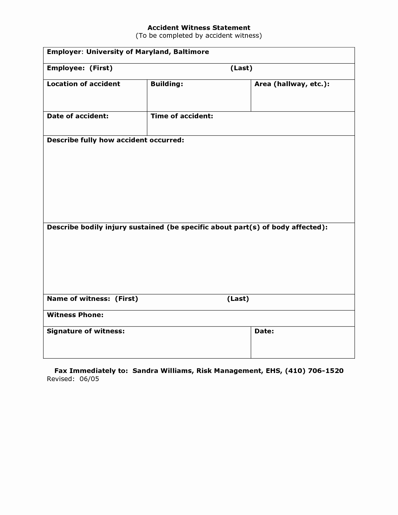 Witness Statement form Template Luxury 23 Of Work Accident Witness Statement Template