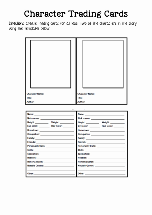 Word Trading Card Template Beautiful 2 Trading Card Templates Free to In Pdf