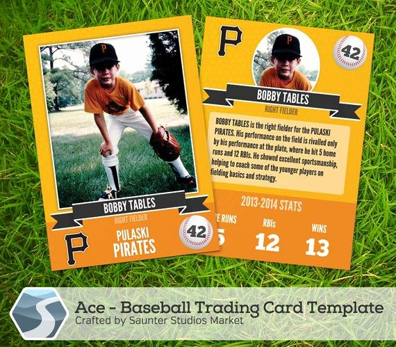 Word Trading Card Template Beautiful Ace Baseball Trading Card 2 5 X 3 5 Shop by