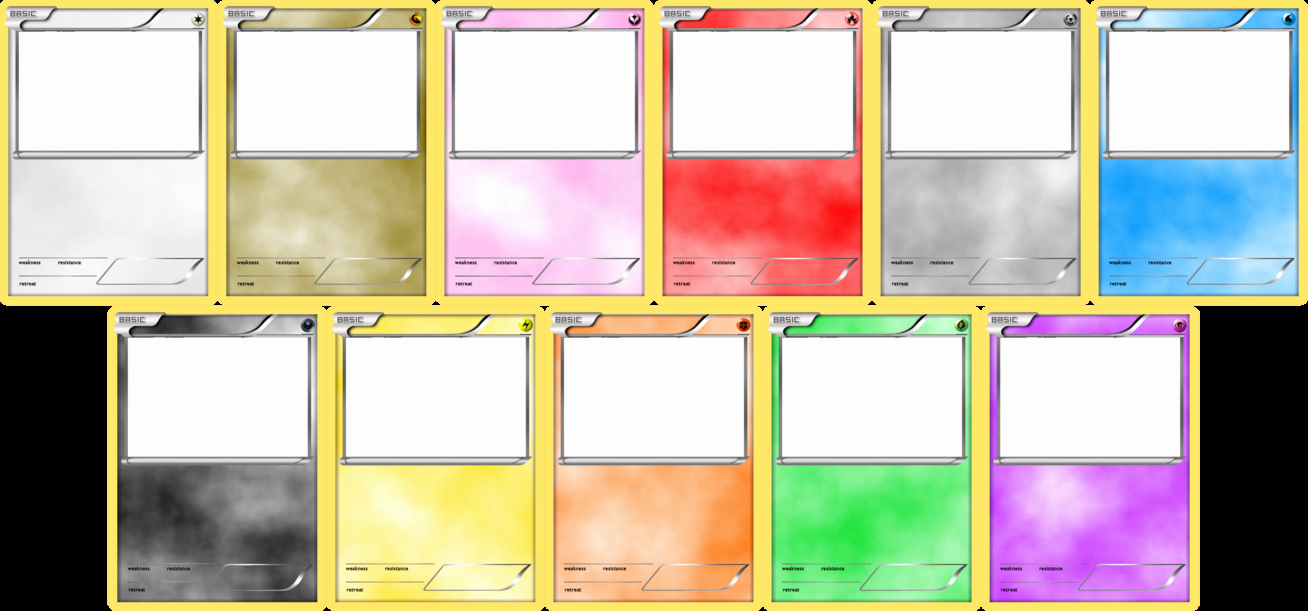 Word Trading Card Template Beautiful Pokemon Blank Card Templates by Levelinfinitum On Deviantart