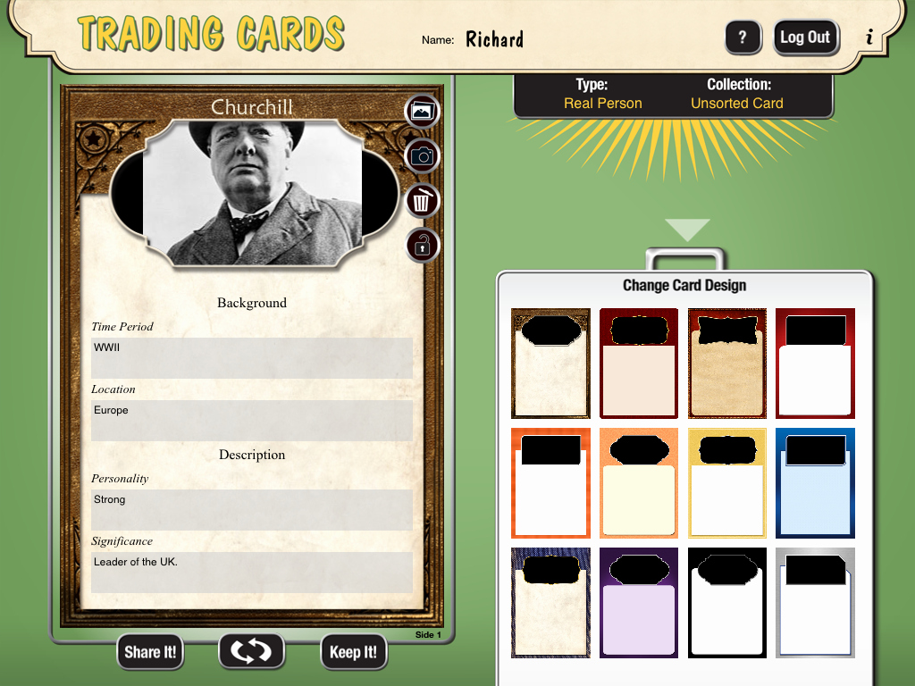 Word Trading Card Template Lovely Free Technology for Teachers Create Trading Cards for