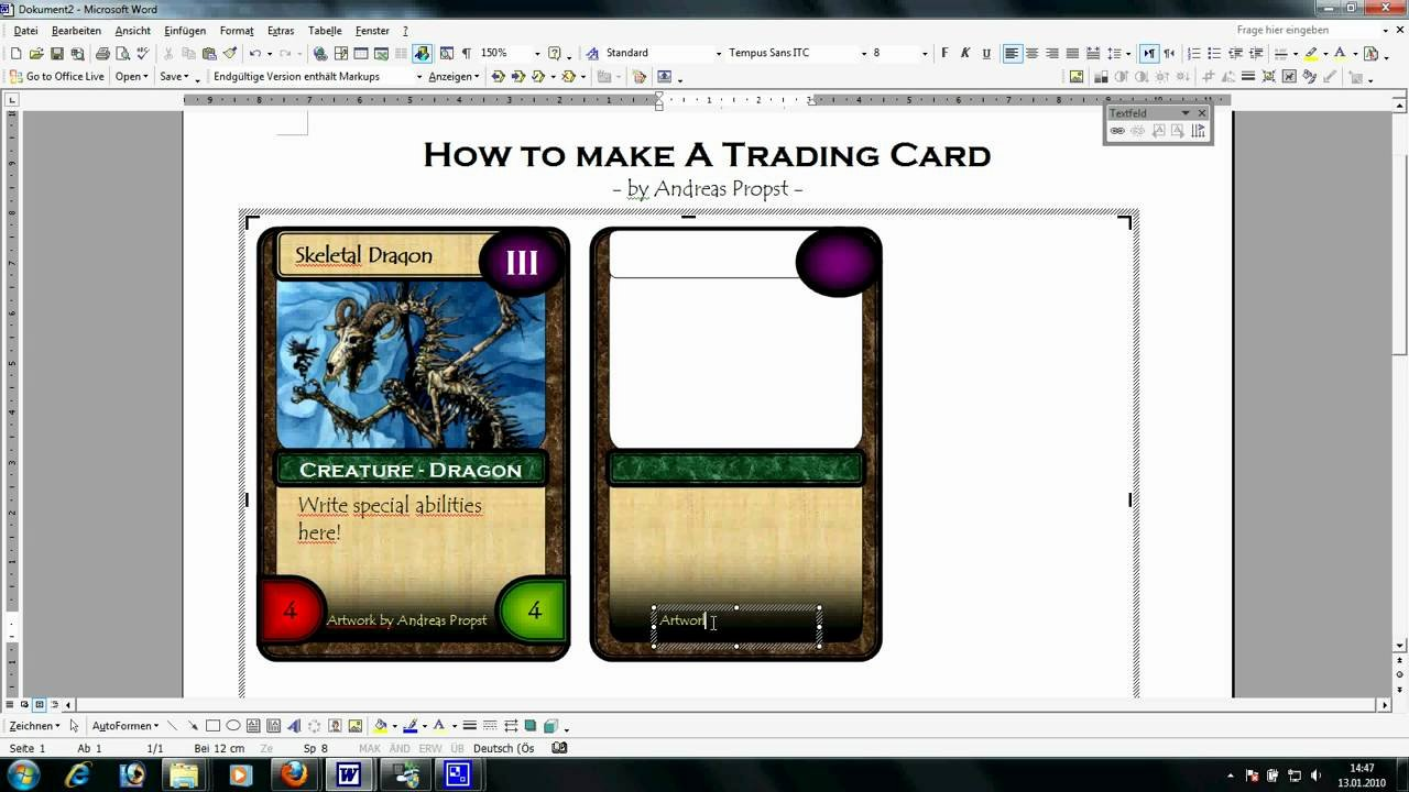 Word Trading Card Template Unique Trading Card Template Word