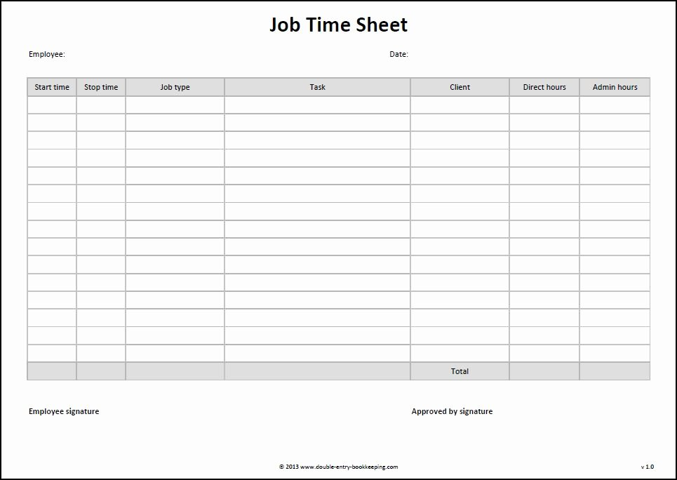 Work Hour Sheet Best Of Job Time Sheet Template