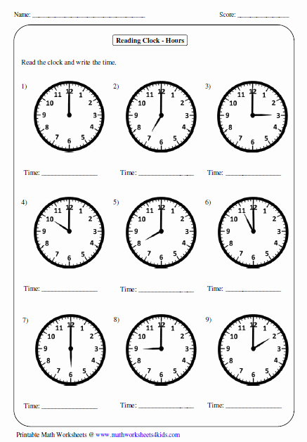 Work Hour Sheet Best Of Telling Time Worksheets