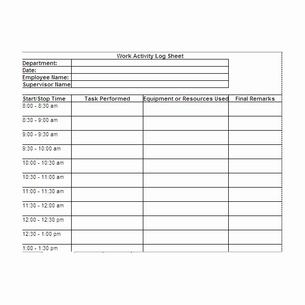 Work Hour Sheet Luxury Free Printable Work Log Sheets Download and Modify for