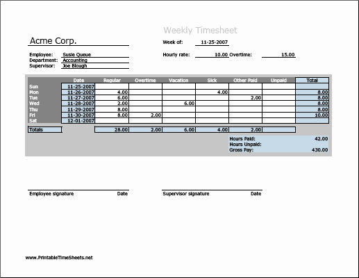 Work Hour Sheet Luxury Weekly Timesheet Horizontal orientation Work Hours