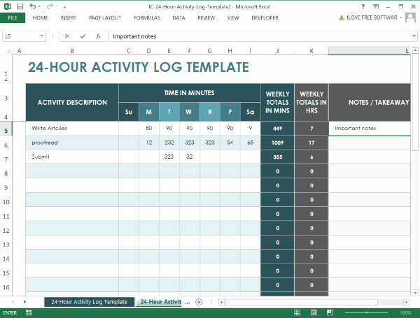 Work Hours Log Sheet Fresh 10 Free Time Tracking Spreadsheet to Track and Log Work Hours