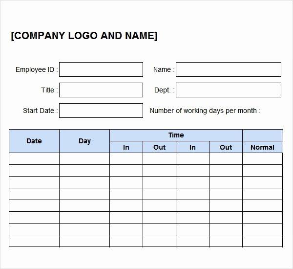 Work Hours Log Sheet Inspirational 11 Time Log Templates – Pdf Word