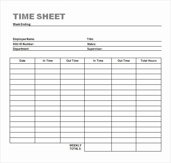 Work Hours Log Sheet Luxury Sample Time Sheet 23 Example format