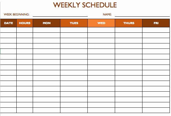 Work Hours Sheet Awesome Free Work Schedule Templates for Word and Excel