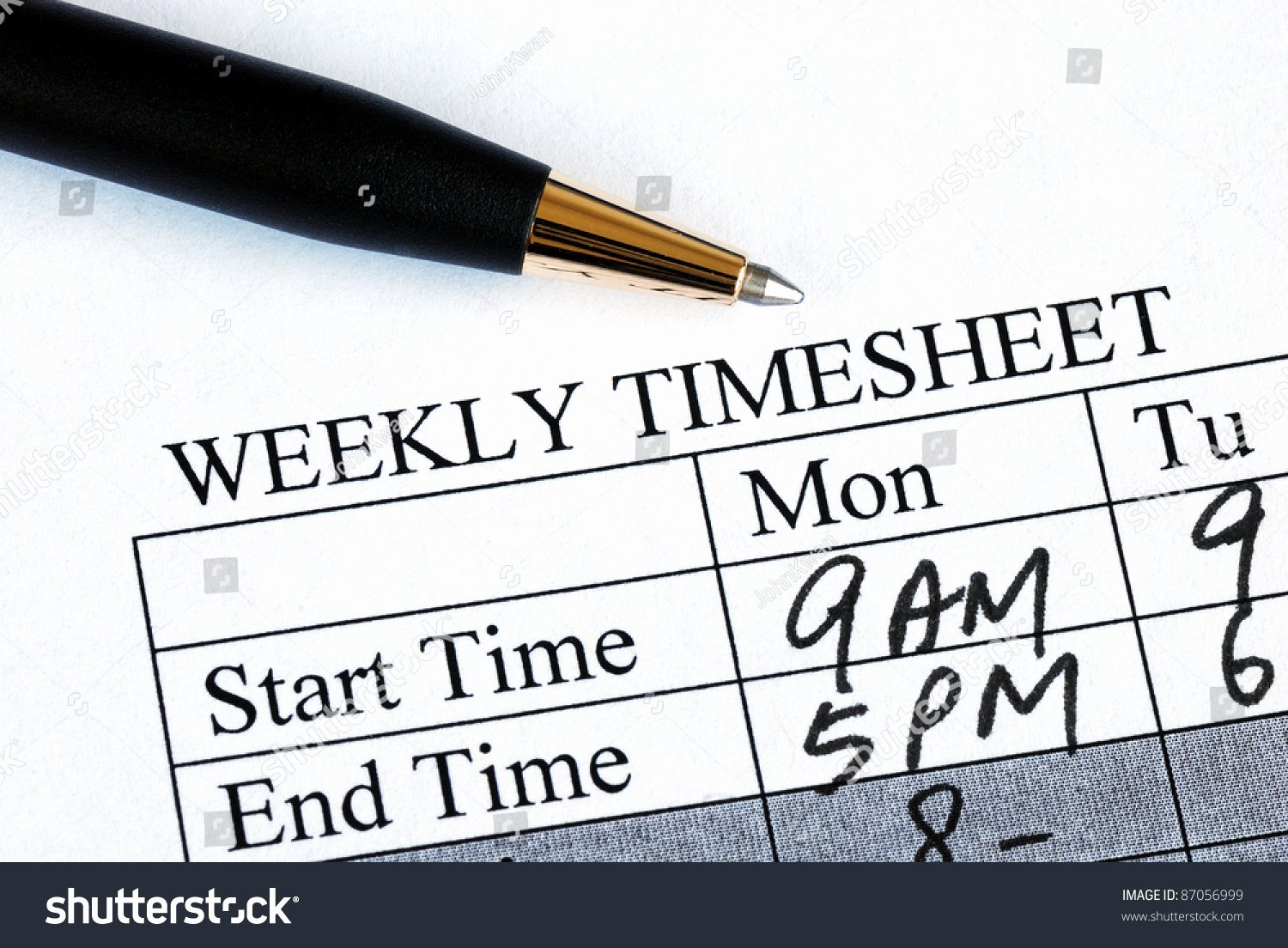 Work Hours Sheet Elegant Enter Weekly Time Sheet Concepts Work Stock