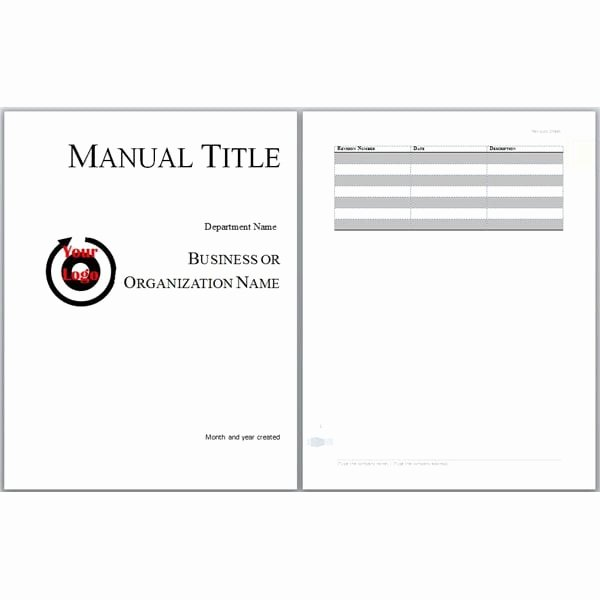Work Instructions Template Word Awesome 6 Free User Manual Templates Excel Pdf formats