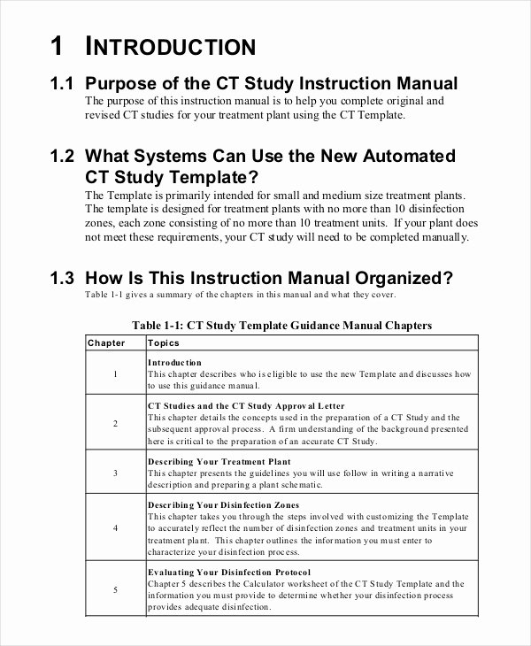 Work Instructions Template Word Fresh Instruction Manual Template 10 Free Word Pdf Documents
