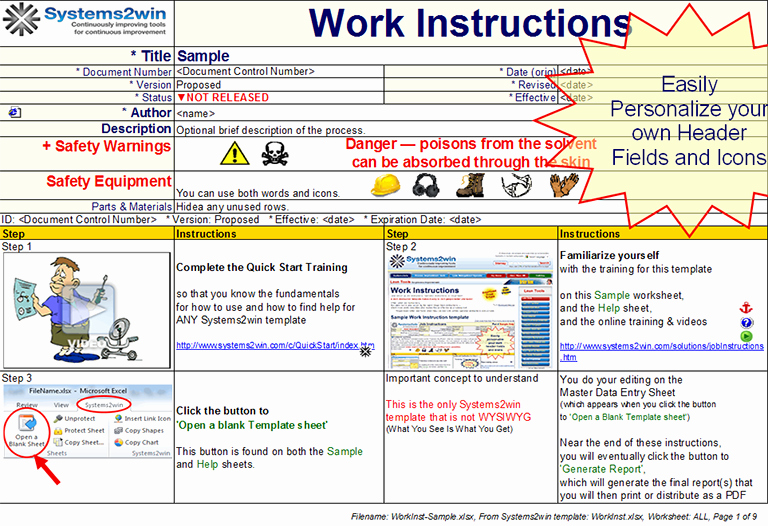 Work Instructions Template Word Inspirational Work Instruction Template