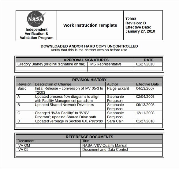 Work Instructions Template Word New 10 Free Instruction Templates Ms Word format Download