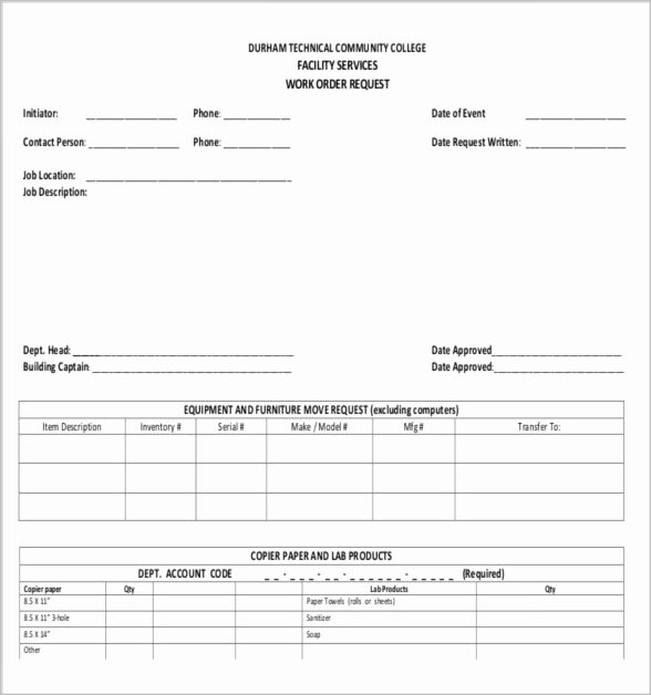 Work order Request Fresh 10 Job order forms