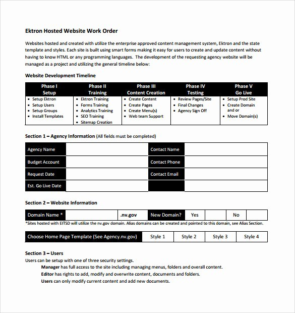 Work order Request New 14 Work order Samples – Pdf Word Excel Apple Pages
