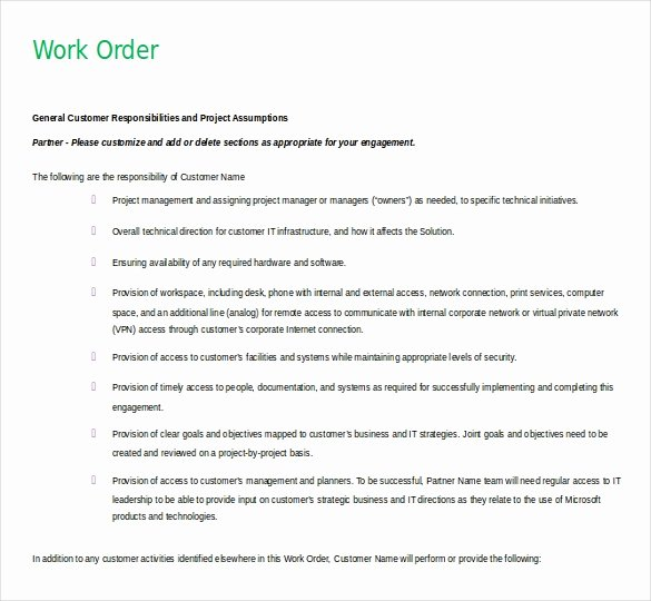 Work order Template Word Fresh 11 Microsoft Word 2010 Free order Templates Download