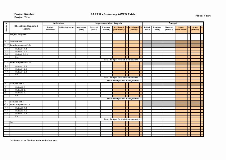 Work Plan Template Excel Best Of Annual Workplan & Bud 2010 Part 2 Excel Templates Revised