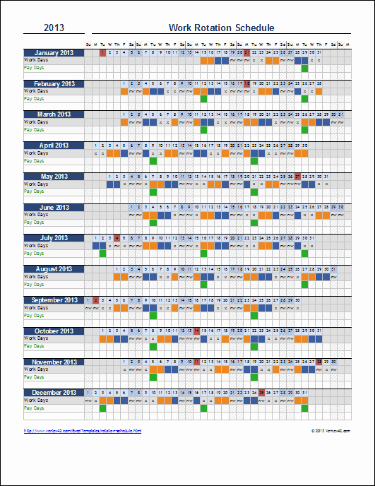 Work Plan Template Excel Best Of Free Rotation Schedule Template