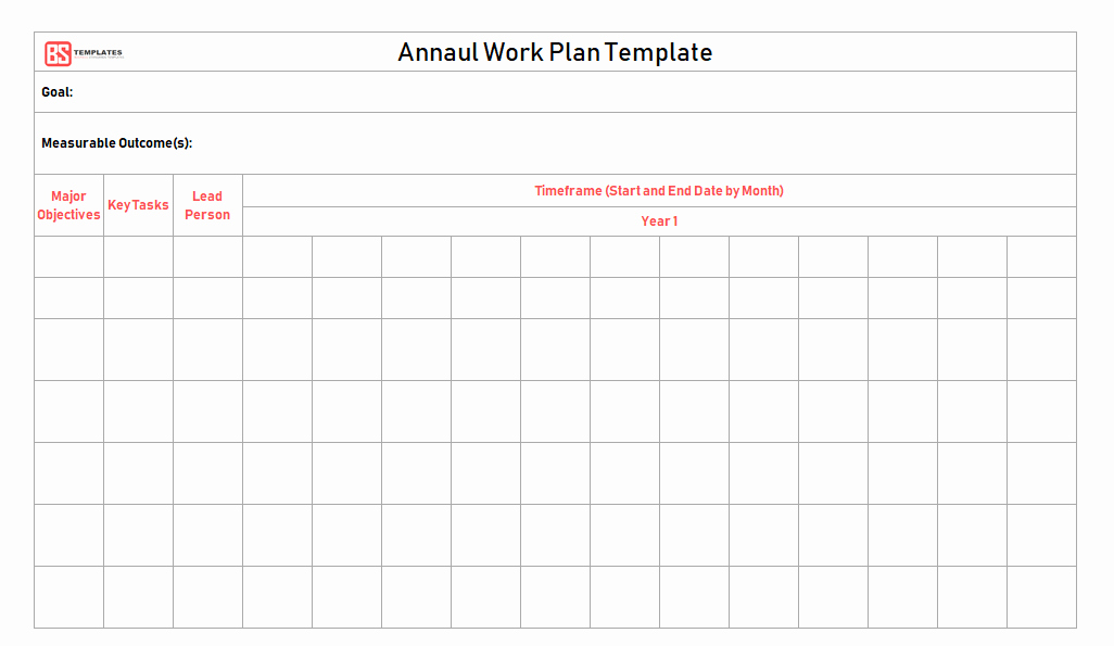 Work Plan Template Excel Elegant Work Plan [ Templates Samples