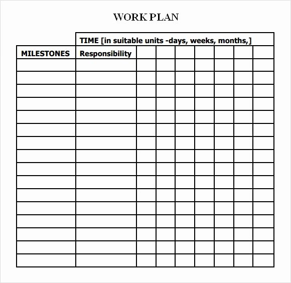 Work Plan Template Excel Unique Work Plan Template 13 Download Free Documents for Word
