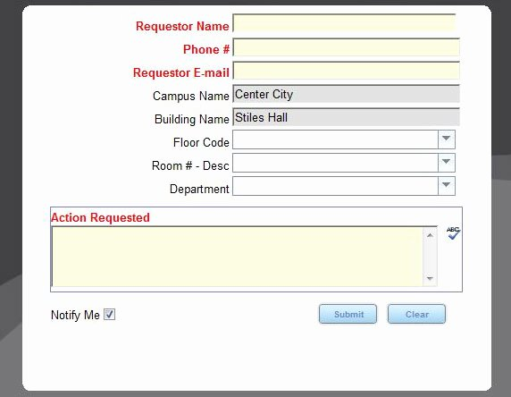 Work Request form Awesome Maintenance and Damages