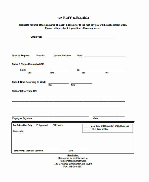 Work Request form New 24 Time F Request forms In Pdf