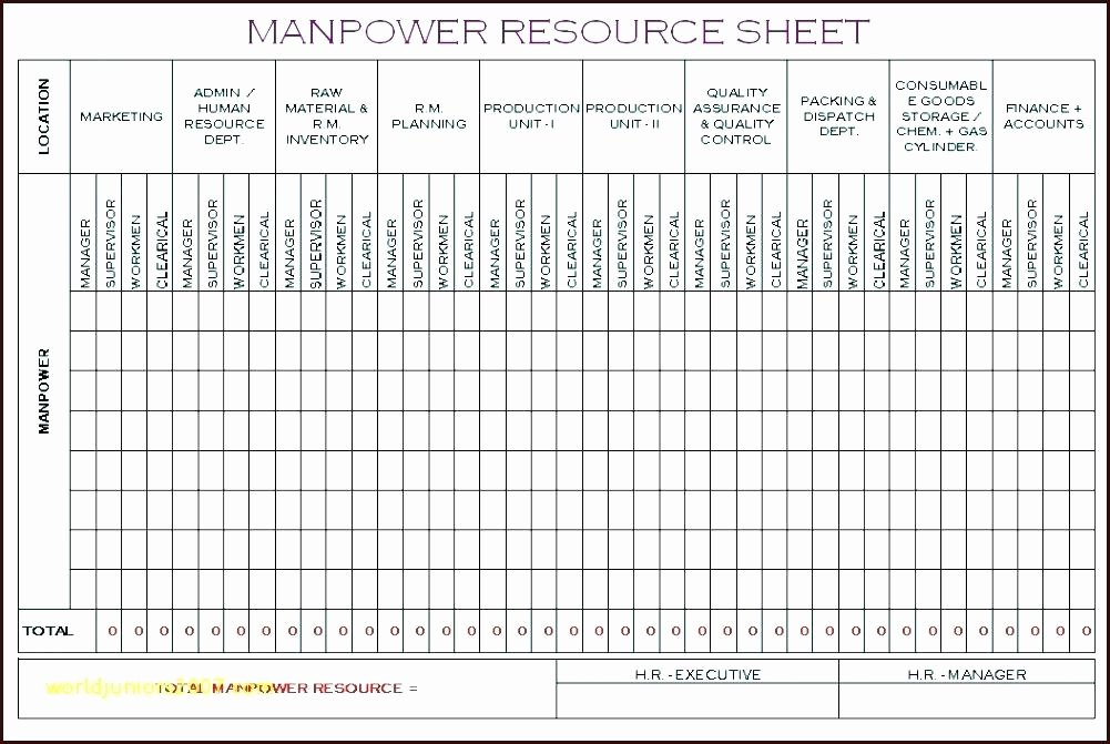 Workforce Plan Template Excel Unique Headcount forecasting Template Excel