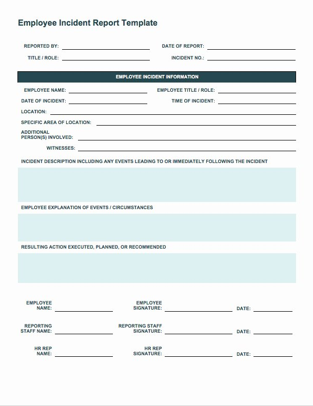 Workplace Incident Report form Template Free Awesome Free Incident Report Templates Smartsheet